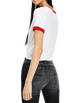 Camiseta Tommy Jeans Con Nudo Blanco