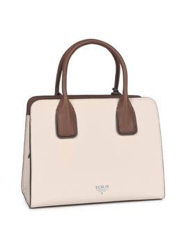 Bolso Tous City Mediano Essential Beige-Marrón